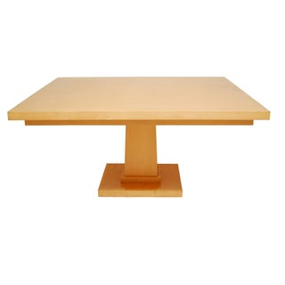 Large Maple Square Pedestal Table
