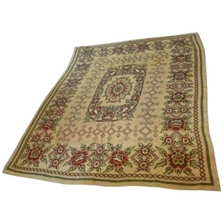 Antique European Throw Tapestry Bedspread Rug