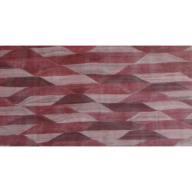 "Hand Knotted Modern Kilim by Aara Rugs Inc. - 13'3"" X 9'11"" - Image 4 of 4"