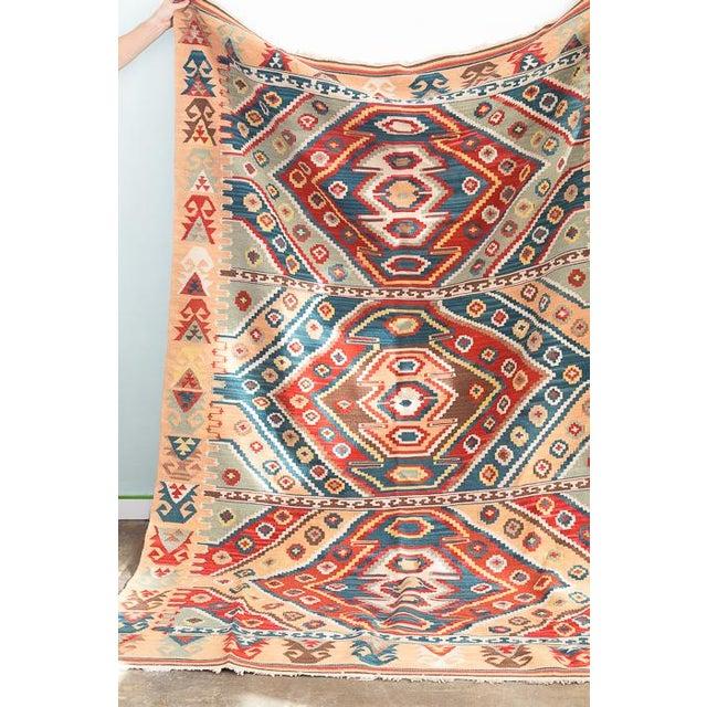 Southwest Flat Weave Rug - Image 4 of 8