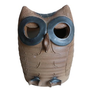 Vintage Minnickel California Studio Pottery Owl