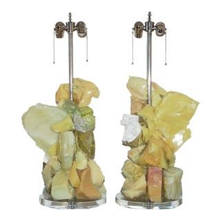 Rock Candy Glass Lamps in Tropical Fruit