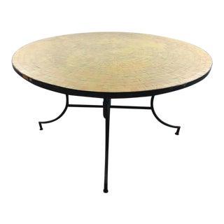 Moroccan Zeilij Tile Table in Orange