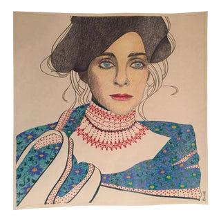 Vintage Original Pop Illustration Judy Collins