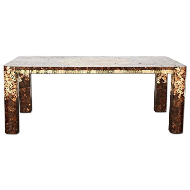 Art Deco Modern Inlaid Dining Table - Image 2 of 5
