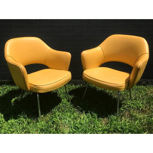 Original 1950's Vintage Eero Saarinen for Knoll Model 71 Executive Armchairs - a Pair - Image 11 of 11