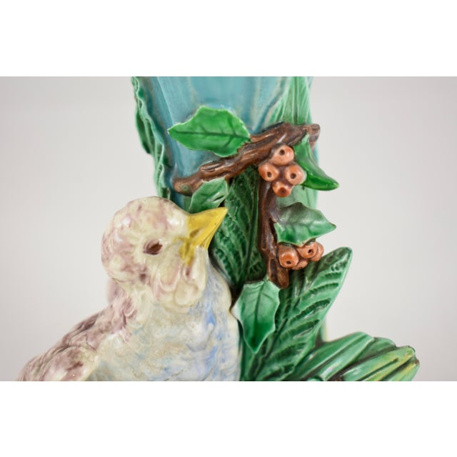 19th Century Royal Worcester Song Bird Posey Vase - Image 7 of 10
