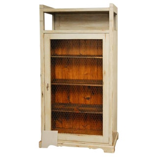 Tall Cabinet with Wire Mesh in Door