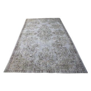 "Turkish Over Dyed Area Rug in Gray - 9'2"" x 5'7"""