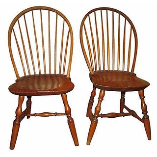 18th C. American Windsor Side Chairs - A Pair