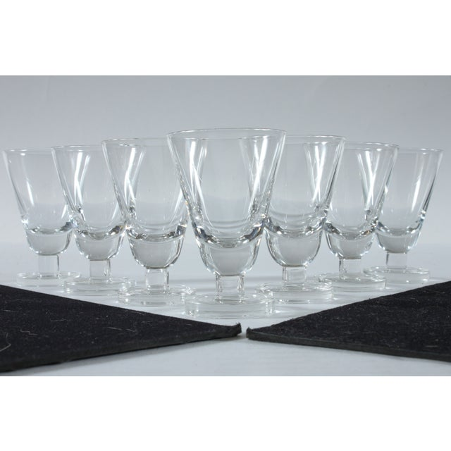 Heavy Footed French Shot Glasses - Set of 7 - Image 2 of 3