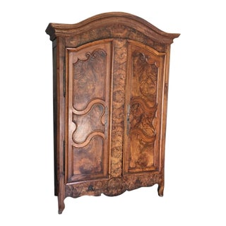French Louis XV 18th-Century Wooden Armoire