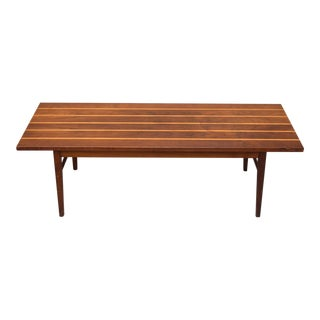 Mid-Century Teak & Holly Coffee Table