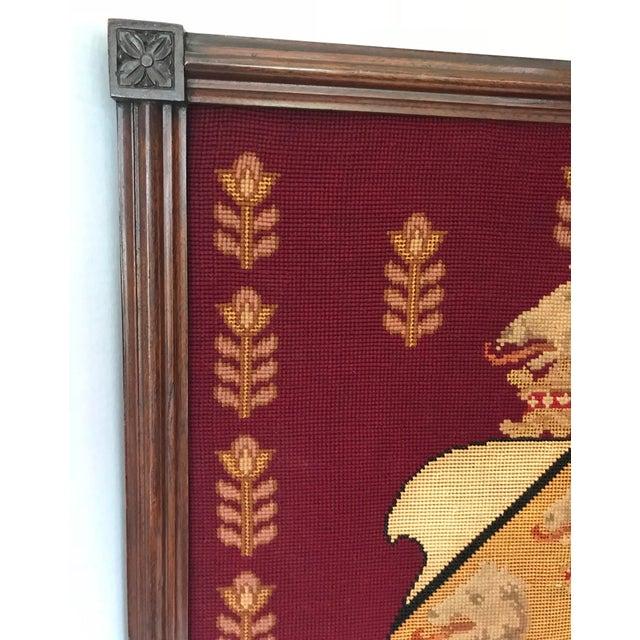 Framed Needlepoint Shield - Image 3 of 5