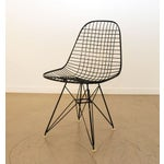 Image of Black Original Eames Wire Chairs - Set of 4