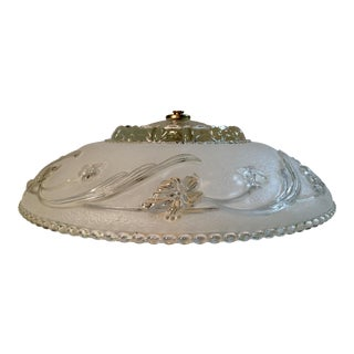 Art Deco Ceiling Light Fixture With Glass Shade