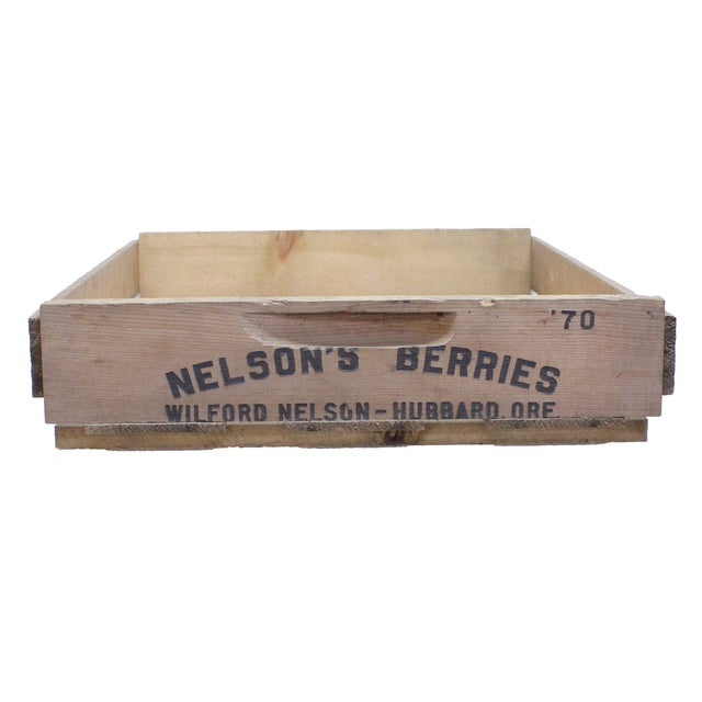Image of Vintage Wooden Berry Crates - Set of 3