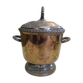 Patinated Silver Ice Bucket