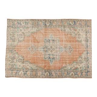 "Vintage Distressed Oushak Carpet - 6' x 8'10"""