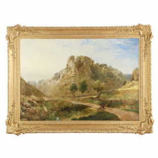 Traditional 19th Century British Landscape Mountain Painting