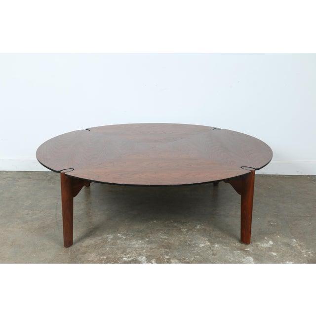 Walnut Round Coffee Table Chairish