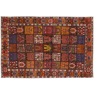 """Vintage Hand-Knotted Persian Rug - 6'9"""" X 10'5"""""""