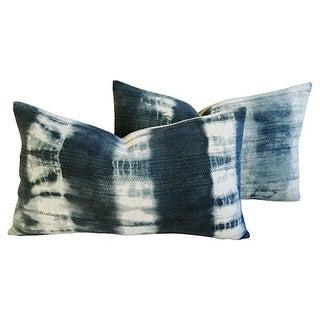Linen Ombré Indigo & White Pillows - a Pair