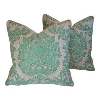 Italian Fortuny Vivaldi Feather & Down Pillows - A Pair