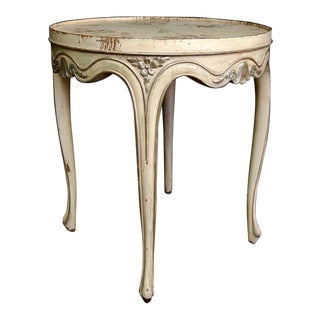 Antique French Ivory & Silver Side Table
