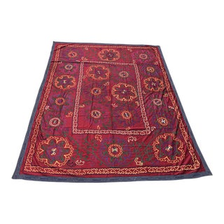 Antique Red Suzani Textile