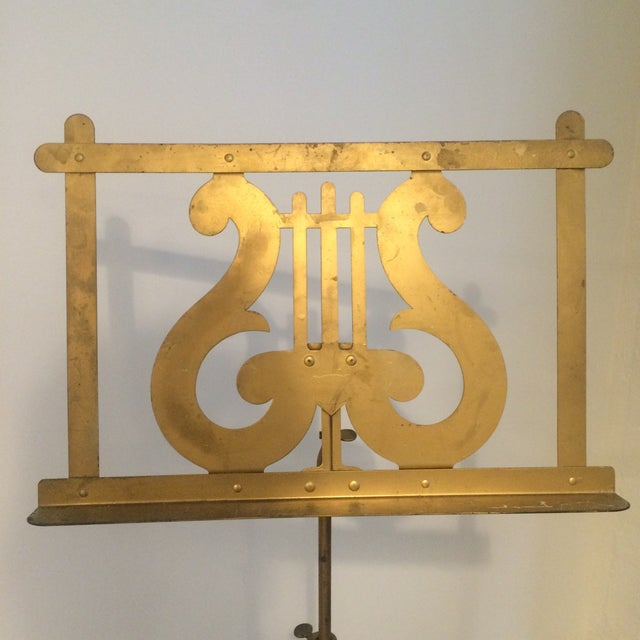 Vintage Neoclassical Brass Music Stand - Image 3 of 5