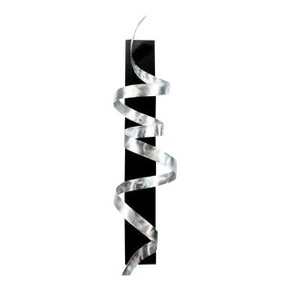 Silver Metal Twisting Wall Art