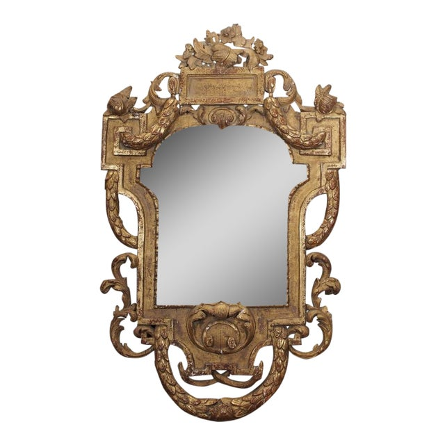 19th Century Italian Carved Giltwood Mirror - Image 1 of 7