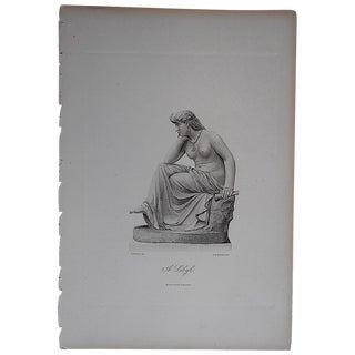 "Antique Engraving ""The Sibyl"" Folio Size"