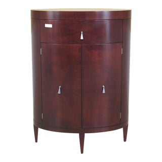 Baker Oval Modern Cherry Semainier Chest
