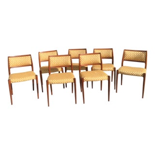 Danish Mid-Century Modern Low Back Dining Chairs - Set of 7