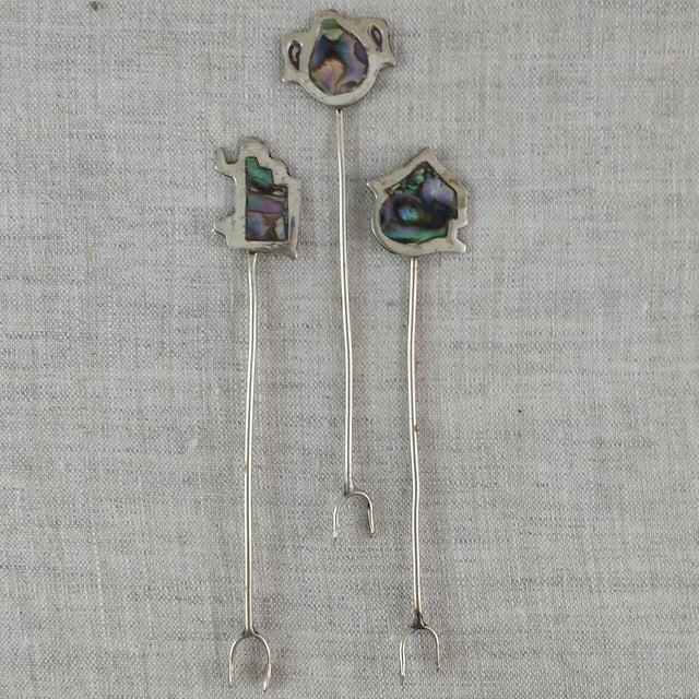 Vintage Alpaca Cocktail Forks - Set of 11 - Image 6 of 10