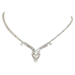 60's Rhinestone Drop Necklace
