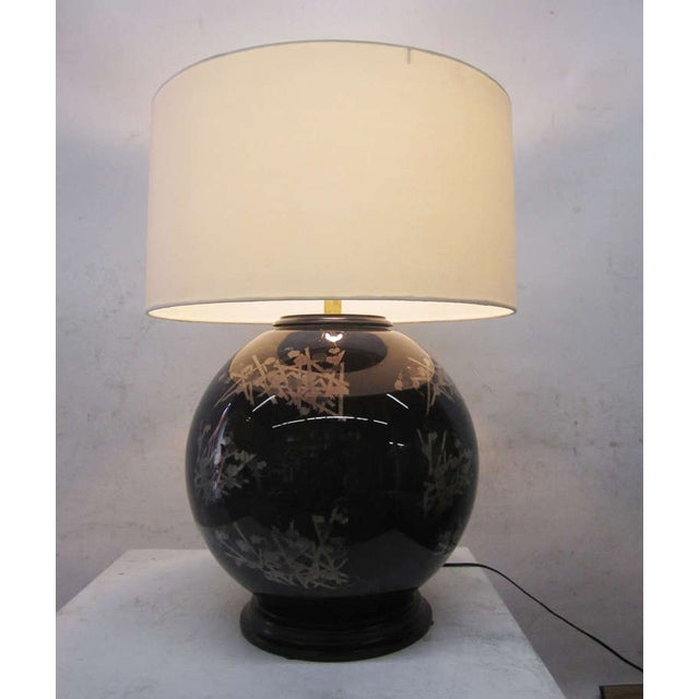 Midcentury Glass Japanese Style Table Lamps - Pair - Image 6 of 6
