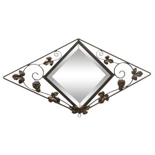 French Deco Iron Wall Mirror