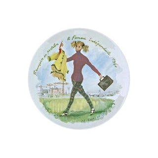 Vintage Les Femmes Du Siecle Limoges Plate