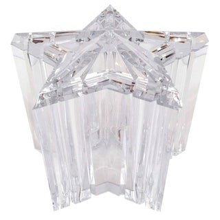 Star Shaped Lucite Ice Bucket