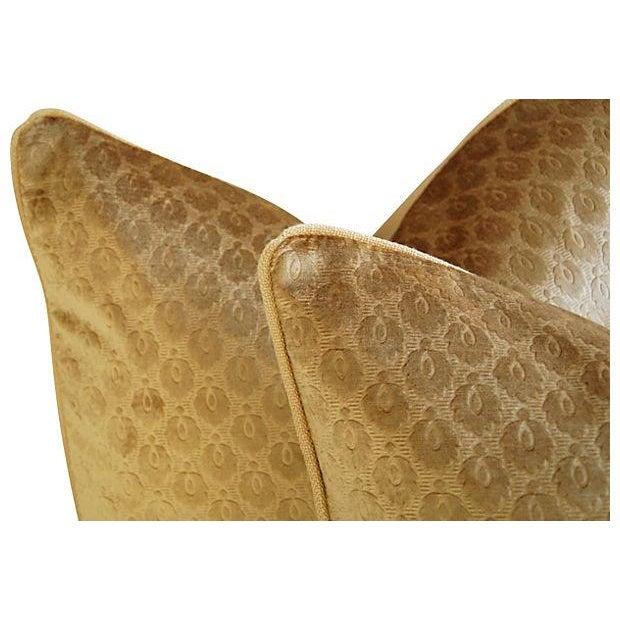 Custom French Pierre Frey Velvet Pillows - A Pair - Image 4 of 7