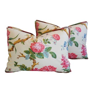 Brunschwig & Fils Coligny Floral Pillows - a Pair