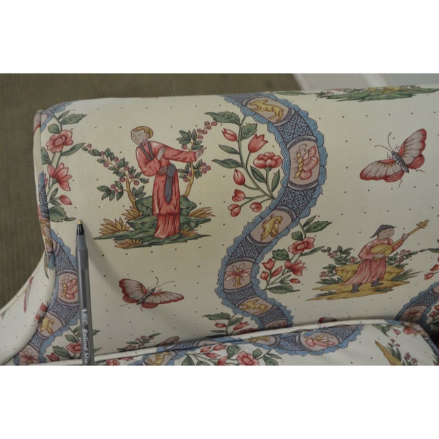 Custom Quality Chippendale Style Loveseat - Image 4 of 10