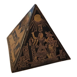 Vintage Egyptian Pyramid Paper Weight