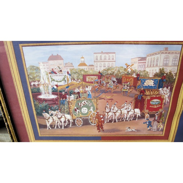 Image of Signed and Framed Circus Print