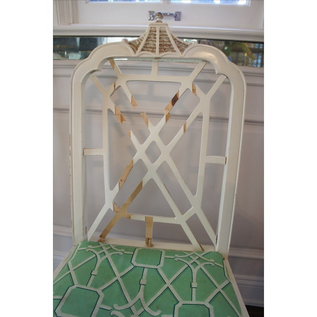 Pagoda Dining Chairs - Set of 4 - Image 7 of 9