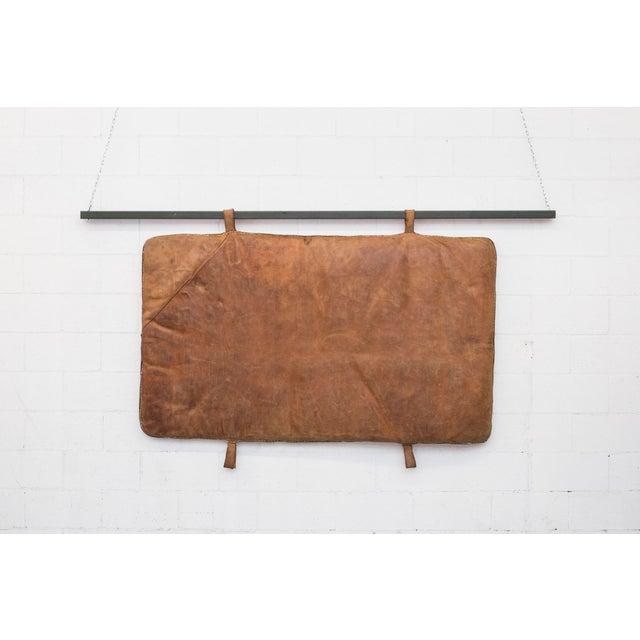 Image of Vintage Leather Gymnastics Mat