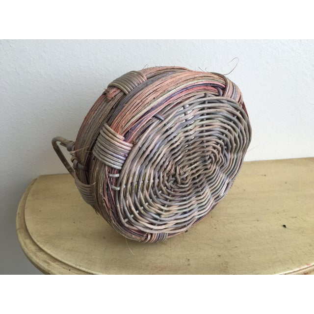 Rustic Wicker Basket, Vintage Holiday Decor - Image 6 of 7